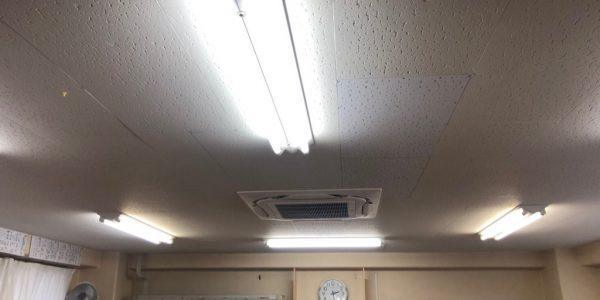 江東区にて天吊形から天カセ4方向への入替工事