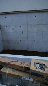 1階リビングの室外機設置前写真
